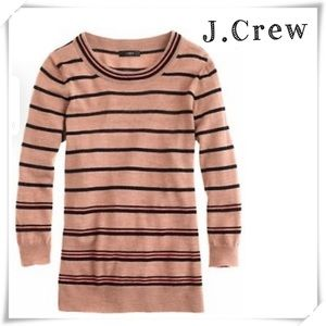 J.Crew Tippi Stripped 100% Merino Wool Sweater